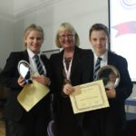 Year 7 Outstanding Boy and Girl; Kayleigh Robinson and Liam Bennett