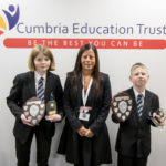 Year 7 and 8 CET Award Winners - Lucy Wilson, John Little and Lorrayne Hughes - CEO